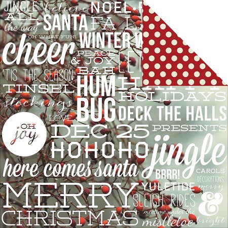 "Simple Stories - Cozy Christmas Collection - 12""x12"" Double-Sided Cardstock - Let It Snow"