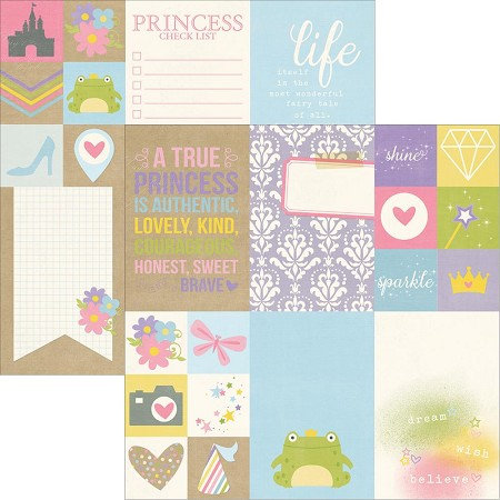 "Simple Stories - Enchanted Collection - 12""x12"" Double-Sided Cardstock - 2x2 & 4x6 Elements"