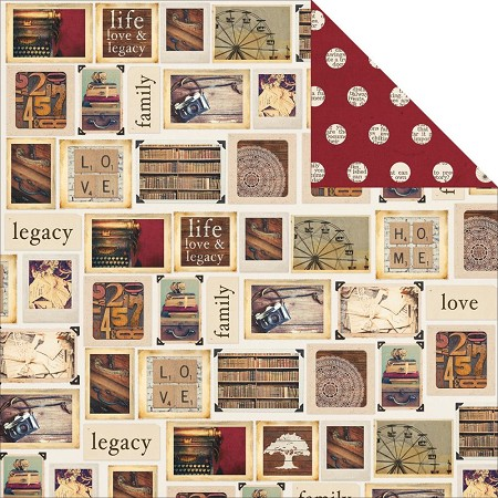"Simple Stories - Legacy Collection - 12""x12"" Double-Sided Cardstock - Treasure"