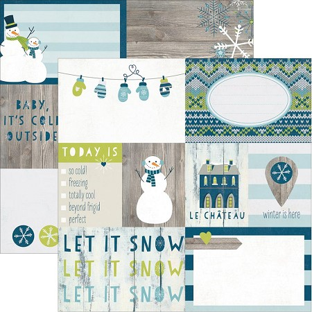 "Simple Stories - Snow Fun Collection - 12""x12"" double side cardstock - Elements #1"