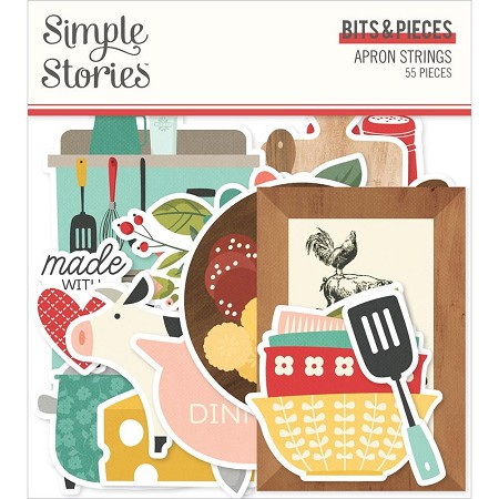 Simple Stories - Apron Strings collection Ephemera Bits & Pieces Die-Cuts
