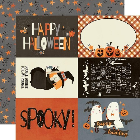 "Simple Stories - Boo Crew collection - 4""X6"" Elements 12x12 cardstock"