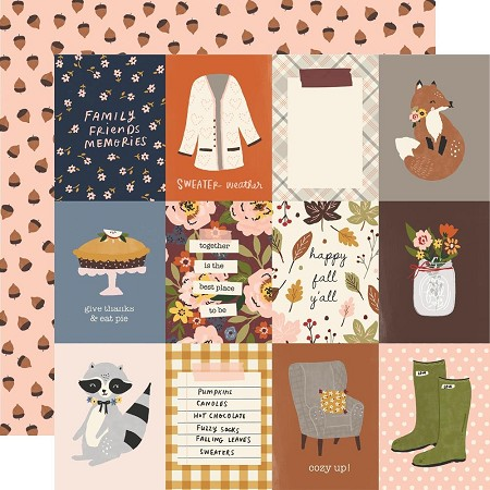 "Simple Stories - Cozy Days collection - 3""X4"" Elements 12x12 cardstock"