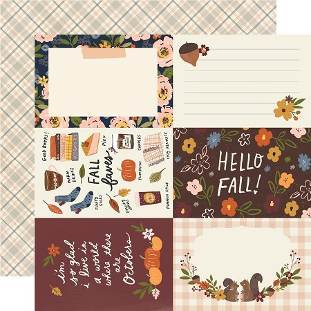 "Simple Stories - Cozy Days collection - 4""X6"" Elements 12x12 cardstock"
