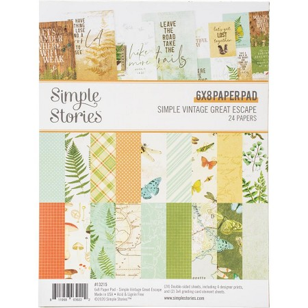 "Simple Stories - Simple Vintage Great Escape collection - 6""x8"" paper pad"