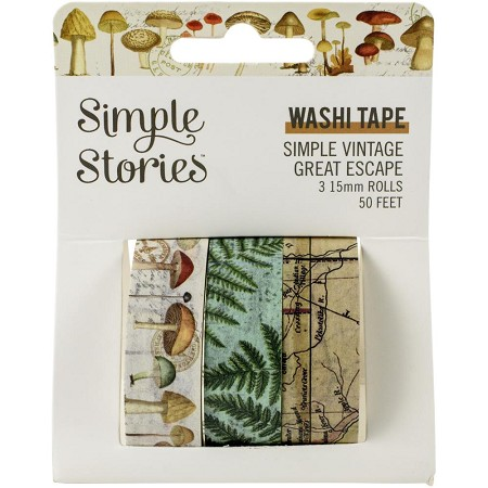 Simple Stories - Simple Vintage Great Escape collection Washi Tapes (3 rolls)