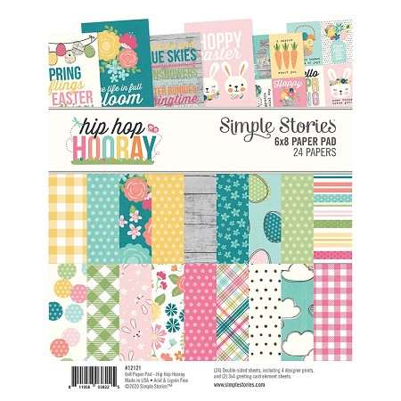 "Simple Stories - Hip Hop Hooray collection - 6""x8"" paper pad"