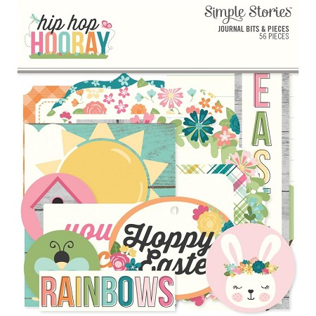 Simple Stories - Hip Hop Hooray collection Journal Bits & Pieces Die-Cuts