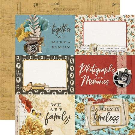 "Simple Stories - Simple Vintage Ancestry collection - 4""X6"" Elements 12x12 cardstock"
