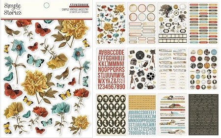 Simple Stories - Simple Vintage Ancestry collection Sticker Book