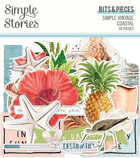 Simple Stories - Simple Vintage Coastal collection Ephemera Bits & Pieces Die-Cuts