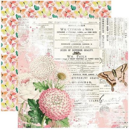 Simple Stories - Simple Vintage Garden District collection - You Can Fly 12x12 cardstock