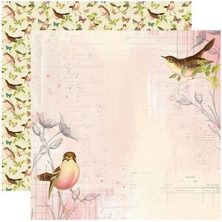 Simple Stories - Simple Vintage Garden District collection - Use Your Wings 12x12 cardstock