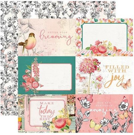 "Simple Stories - Simple Vintage Garden District collection - 4""X6"" Elements 12x12 cardstock"
