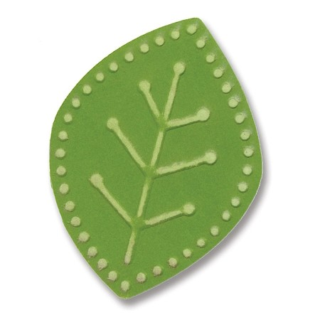 Sizzix-Embosslits Small by Basic Grey-Figgy Pudding Leaf