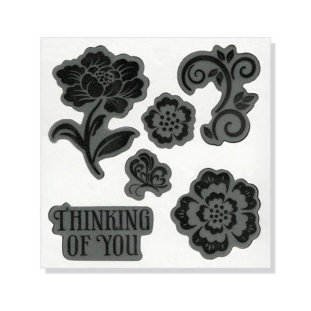 Sizzix-Hero Arts Die/Stamp Set-Floral