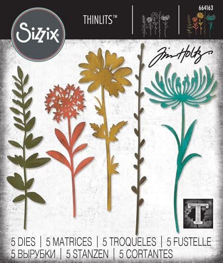Sizzix - Thinlits Die Set by Tim Holtz - Wildflower Stems #1 :)
