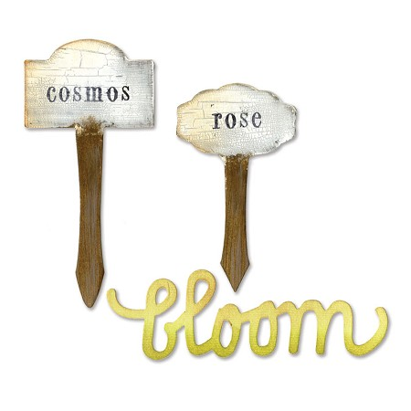 Sizzix Bigz Die - by Eileen Hull - Phrase, Bloom & Plant Markers :)