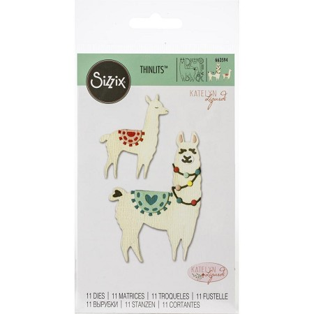 Sizzix - Thinlits Die Set - Llama and Baby Llama by Katelyn Lizardi