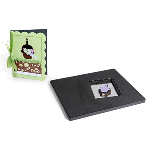 Sizzix PRO Die - Movers & Shapers - A6 Scallop Card w/ Cupcake