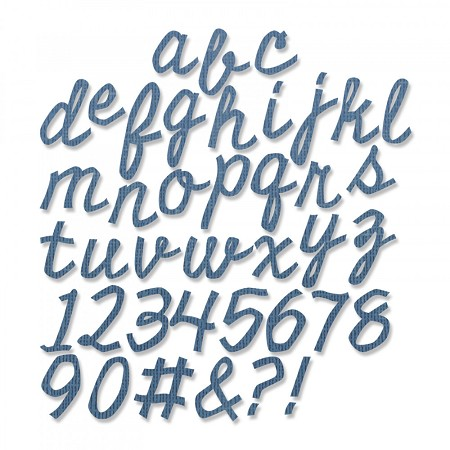 Sizzix - Thinlits Die by Tim Holtz - Cutout Script