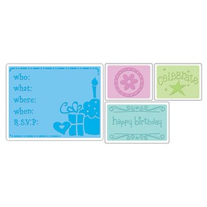 Sizzix Textured Impressions - Birthday Set #1 By Rachael Bright  :)