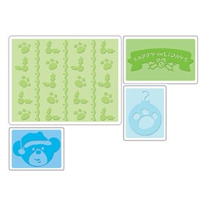 Sizzix Textured Impressions - Beary Christmas Set By Build-A-Bear Workshop
