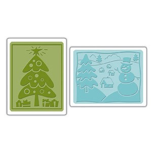 Sizzix Textured Impressions - Christmas Set #5 By Stu :)