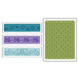 Sizzix Textured Impressions - Christmas Set #6 By Stu :)