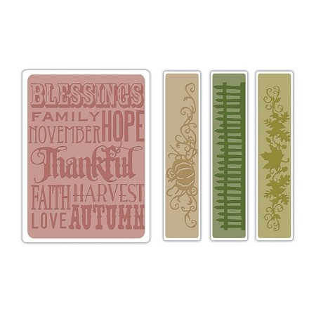 Sizzix Texture Fades by Tim Holtz - Thankful Background & Borders :)
