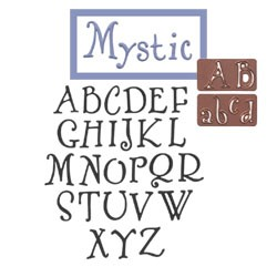Spellbinders-(Alpha/Numbers)Dies-Mystic Upper/Lower/Numbers Case
