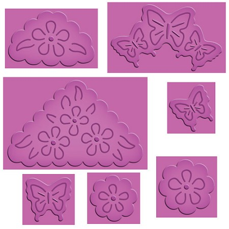 Spellbinders Enhanceabilities Pop Up die - Butterflies & Flowers