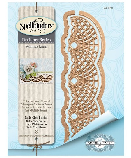 Spellbinders - Venise Lace-Bella Clair Border die by Amazing Paper Grace