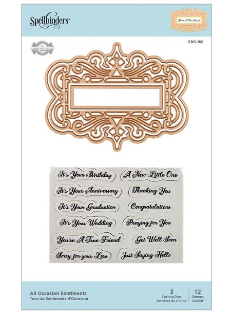 Spellbinders - All Occasions Sentiments stamp & die set by Amazing Paper Grace