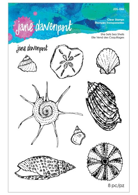 Spellbinders - Jane Davenport Clear Stamp - She Sells Seashells
