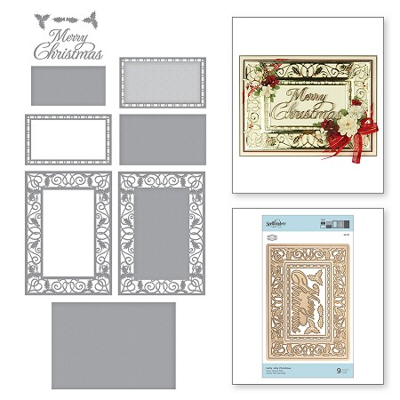 Spellbinders - Designer Die - Holly Jolly Christmas (by Amazing Paper Grace)