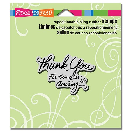 Stampendous - Cling Mounted Rubber Stamp - So Amazing