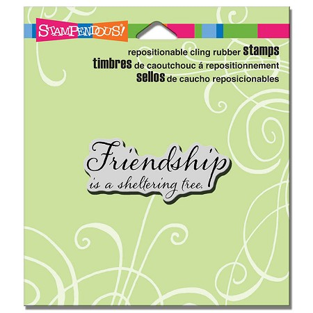 Stampendous - Cling Mounted Rubber Stamp - Friendship Tree