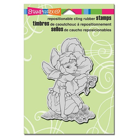 Stampendous - Cling Mounted Rubber Stamp - Fairy Flower