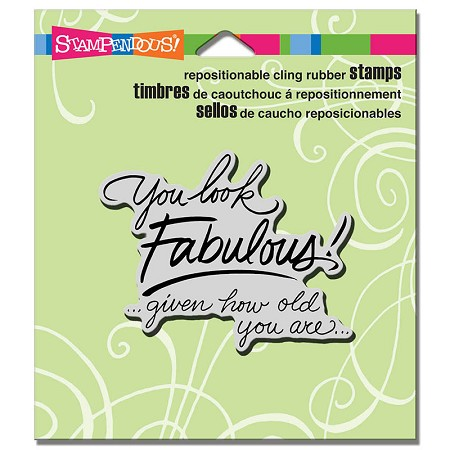 Stampendous - Cling Mounted Rubber Stamp - Look Fabulous