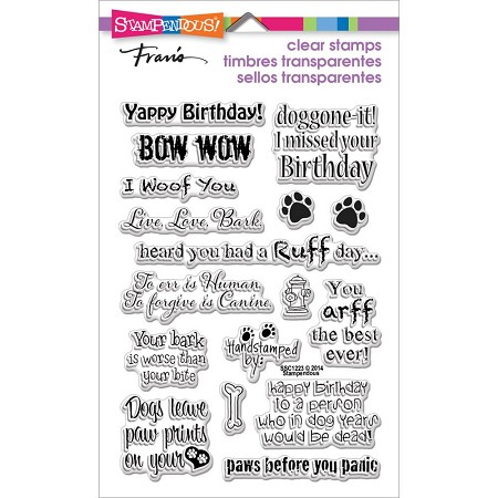 Stampendous Perfectly Clear Stamp - Dog Sayings