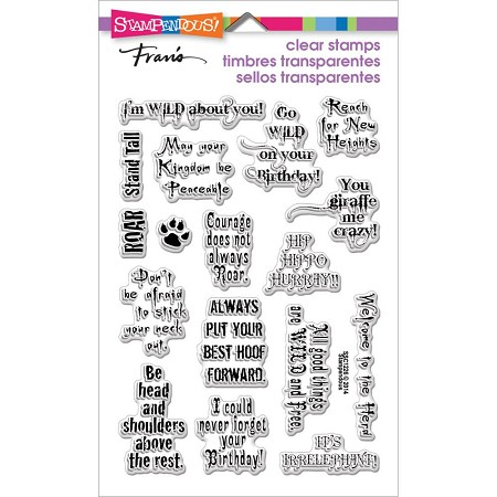 Stampendous Perfectly Clear Stamp - Wild Sayings