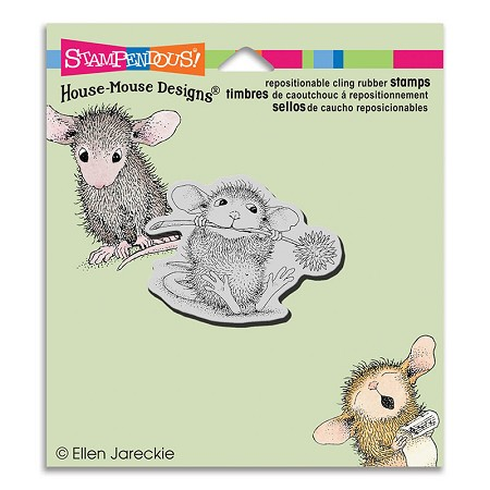 Stampendous Cling Mounted Rubber Stamps - House Mouse Designs - Chive Chewing