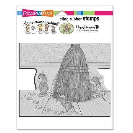 Stampendous Cling Mounted Rubber Stamps - House Mouse Designs - Cat Tracking