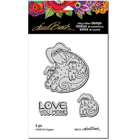 Stampendous - Laurel Burch - Doggies Cling Rubber Stamp Set