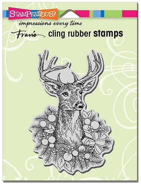 Stampendous - Cling Mounted Rubber Stamp - Adorned Deer