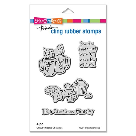 Stampendous - Cling Mounted Rubber Stamp Set - Cookie Christmas