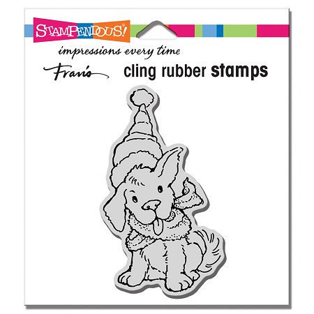 Stampendous - Cling Scarf Puppy Rubber Stamp