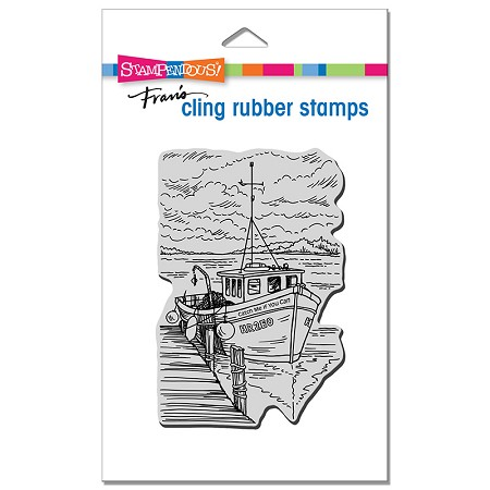 Stampendous - Cling Boat Docking Rubber Stamp