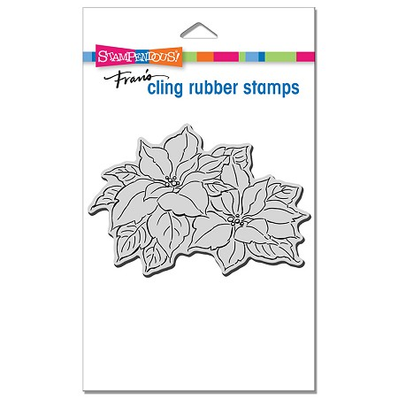 Stampendous - Cling Precious Poinsettias Rubber Stamp